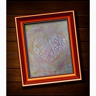 Объемная картина Цветущее сердце