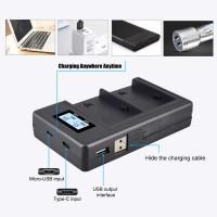 Зарядное устройство для Sony NP-F970 скоростное двойное от USB