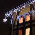 Оформление украшение зданий к Новому году, новогоднее световое оформление фасадов