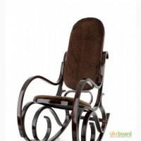 Кресло Качалка PBT Group темно-ореховое, меховое