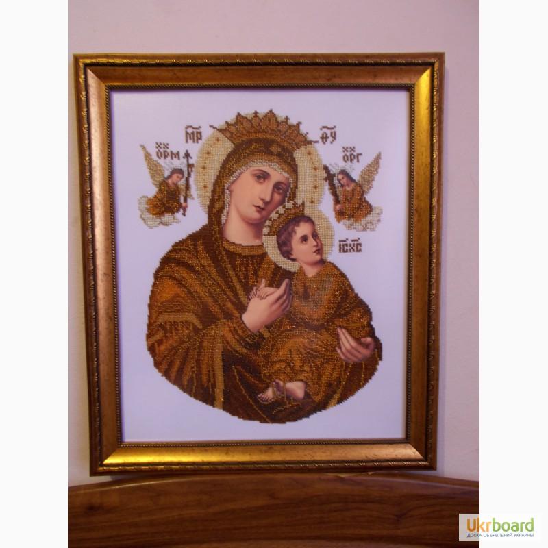 Продам купити богородица Неустанной Помощи - вишита бісером 30414840f03bd