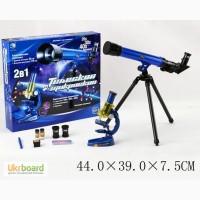 Микроскоп с телескопом 2в1, батар., с аксесс., в кор. 44 39 7, 5с C2109