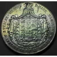 ГЕРМАНИЯ 2 Талера 1841 г. Пруссия «РЕДКАЯ!!!!, Серебро 900! вес 37г