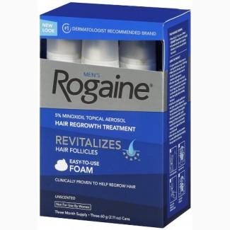 Пена регейн 5% миноксидил (Rogaine foam 5% minoxidil) 3флакона, оригинал из США