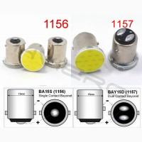 1156 1157 Nano Led Авто лампы 2 шт в Стоп Габарит и Повороты мощный чип Очень яркие