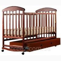 Детская кроватка Наталка ящик темный