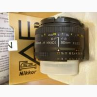 Фотообъектив б/у AF Nikkor 50mm f/1.8D