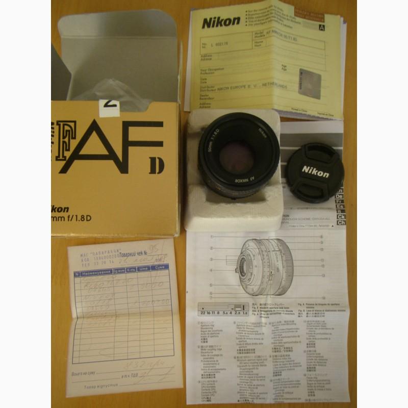 Фото 3. Фотообъектив б/у AF Nikkor 50mm f/1.8D