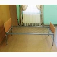 Кровать металлическая, спинка ДСП, 190х70