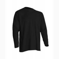 Мужская футболка с длинным рукавом, черная