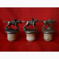 Набор декоративных бронзовые пробок для вина наездники