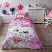 Детское постельное белье ранфорс ТАС Pisi Princess, котенок Писи, Турция
