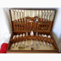 Винтажный юбилейный мельхиоровый столовый набор