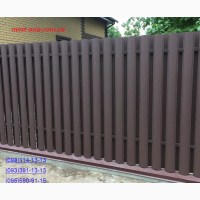 Штакет усиленный, металлический евроштакет, забор