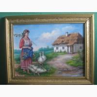 Картина украинская хата