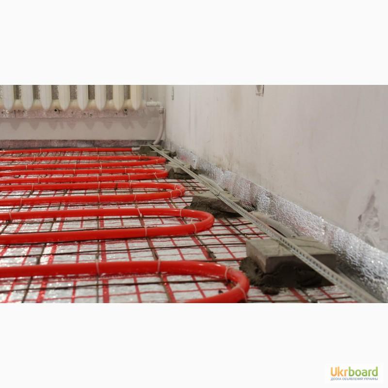 Фото к объявлению: стяжка для теплого водяного пола - Ukrboard