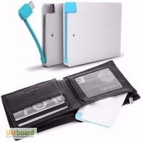 Ультратонкий Power Bank супер-стильный внешний аккумулятор в виде кредитной карты
