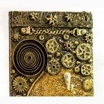Настенная ключница Спираль времени. предмет декора интерьера прихожей