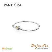 Оригинал Pandora браслет MOMENTS серебряно-золотой 590741