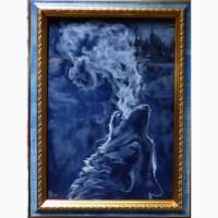 Картина автора Вой, выполнена пастелью, А4