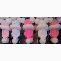 Детская зимняя шапка и шарф Бусинка, возраст 1-5 лет опт и розница S242