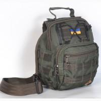Тактическая сумка на плече - олива