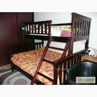Двухъярусная трехместная кровать Жасмин из массива ольхи
