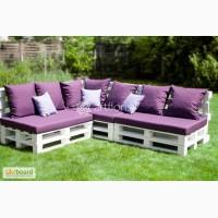 Мебель из поддонов, диван в стиле кантри, деревянная садовая мебель, диван из паллет