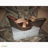 Кожаные Сабо / Босоножки на платформе / Женская обувь Немецкое Качество