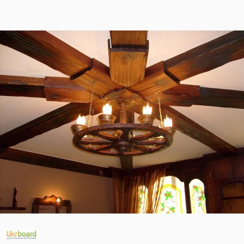 Деревянный светильник на кухню своими руками 34