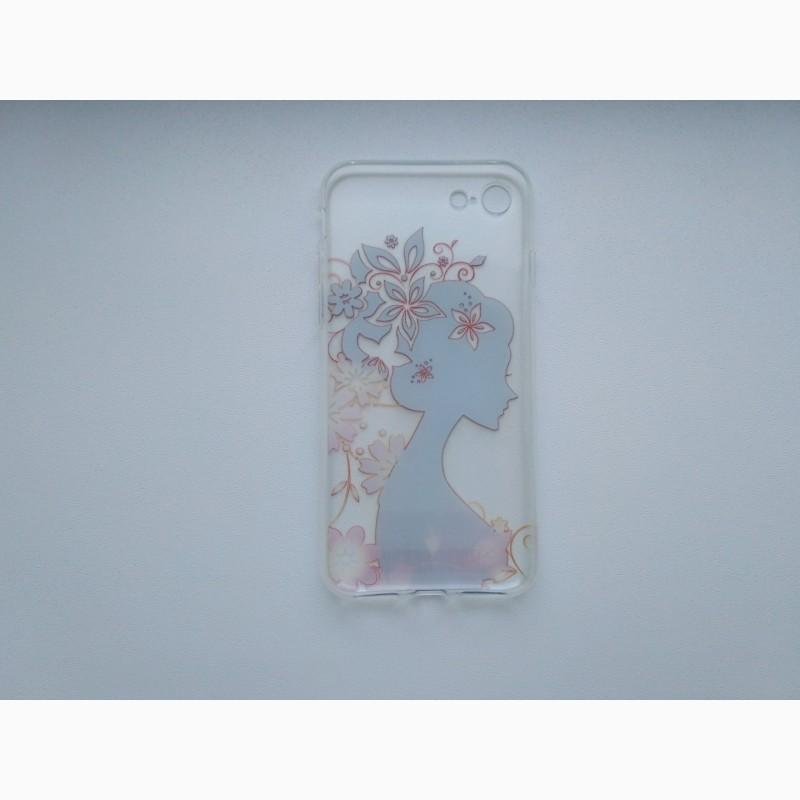 Фото 2. Чехол Бампер силиконовый с принтом на iphone 7