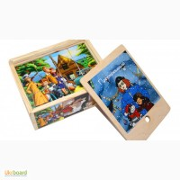 Простоквашино, деревянные кубики 12шт. Развивающая игрушка из дерева