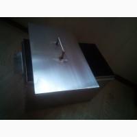 Коптильня коптилка 2 уровня и поддон 400X240X28.5 нержавейка 1мм