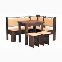 Гетьман + стол + 2 табурета Пехотин (венге-кофе)