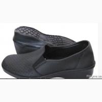02-12 Туфли кожаные женские, черные