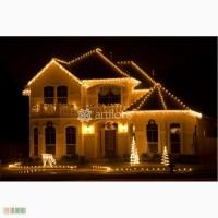 Праздничная иллюминация, световое оформление домов, елки, деревьев от ТМ Артфлорис