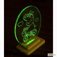 Продам интерьерный светильник в детскую Свинка Пеппа с RGB подсветкой
