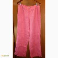 Женские льняные летние длинные брюки