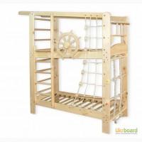 Кровать спортивная для двоих детей. Спортивный уголок, шведская стенка