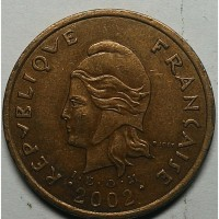 Каледония 100 франков 2002 год