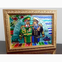 Витражная картина «Генера--Адмирал»