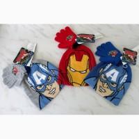 Комплект набор шапка и перчатки, 4-6л, три цвета - НОВЫЕ