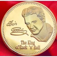 Юбилейная монета рок-Кинг Элвиса Аарона Presley абсолютно новая в стиле ретро