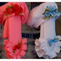 Детские весенние комплекты Жаккард берет и шарф на флисе девочкам 3-12 лет