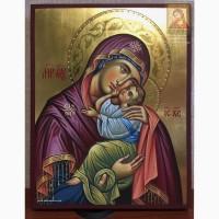Икона Божией Матери «Сладкое Лобзание» рукописная в наличии 24х30 см