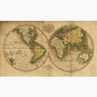 Элитный подарок - Настенная карта Три экспедиции Джеймса Кука