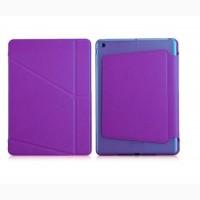 Треугольный Фиолетовый Чехол Logfer Smart Origami Case Leather Embossing для IPad