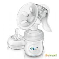 Молокоотсос Philips AVENT ручной серии Comfort Natural с бутылочкой 125мл в ком-те