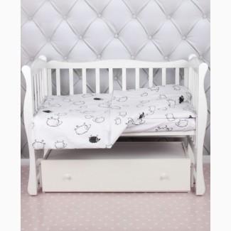 Постельное белье для новорожденных, Комплект Овечки черно-белые