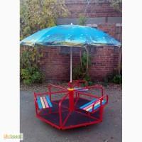 Карусели детские с зонтом, 6-местные от производителя